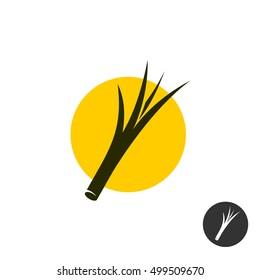 Split end of the hair symbol. Hair split black icon.