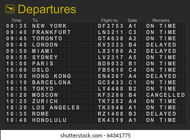 Split flap mechanical departures board