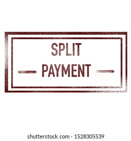 Split Payment, stamp with text
