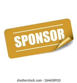 Sponsor Rectangle Sticker and Tag - Gold