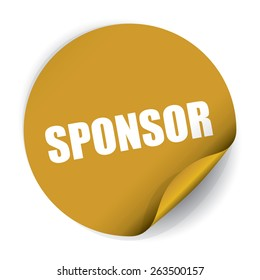 Sponsor Sticker and Tag - Gold