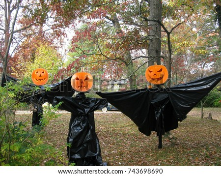Spooky Halloween Figures Made Plastic Trash Stock Illustration ... a61dfc9f7