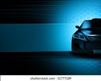 Sport car background