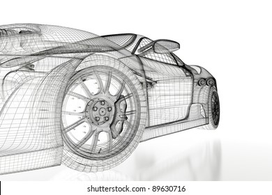 Similar images stock photos vectors of car vehicle 3d blueprint sport car model on a white background 3d rendered image malvernweather Images