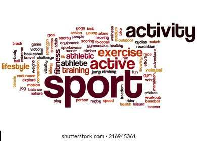 Sport concept word cloud background