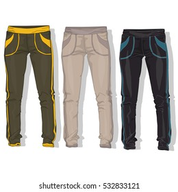Sport trousers / pants isolated.