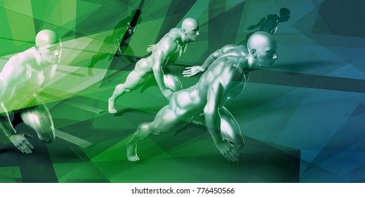 Sports Abstract Background and Education as a Concept 3D Render