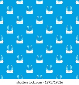 Sports bra pattern seamless blue repeat for any use