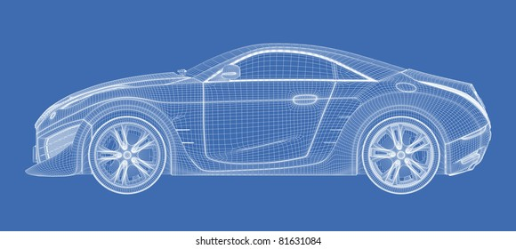 Car Blueprint Images, Stock Photos & Vectors | Shutterstock