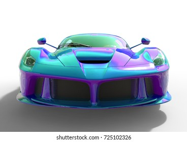 Sports Car Front View Image Sports Stock Illustration 675964090