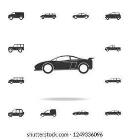 sports car icon. Detailed set of cars icons. Premium graphic design. One of the collection icons for websites, web design, mobile app