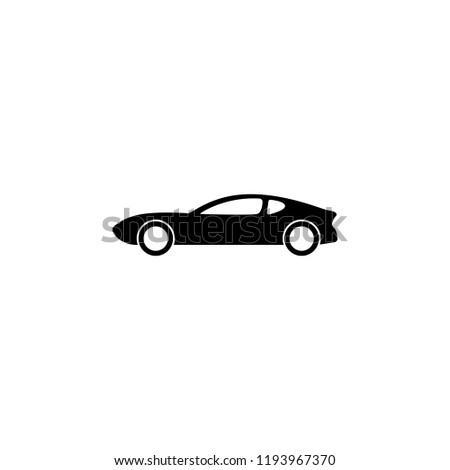 Sports Car Icon Element Vehicle Premium Stock Illustration