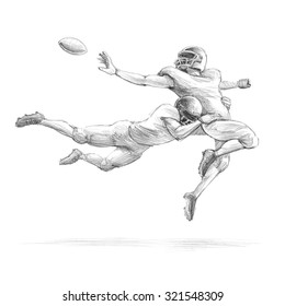 Football Player Sketch High Res Stock Images Shutterstock