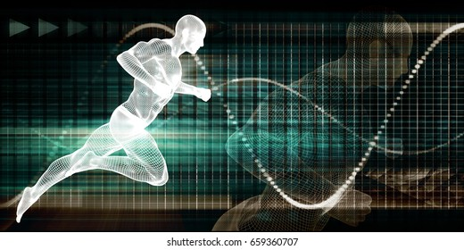 Sports Therapy and Healthcare Science for Sports 3d Illustration Render