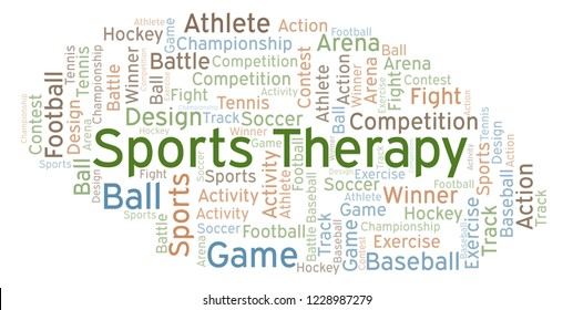 Sports Therapy word cloud.