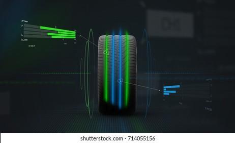 Sports tire concept - 3D illustration