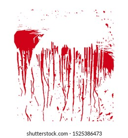 A spot of blood. Stains blood splatter. illustration on isolated background.