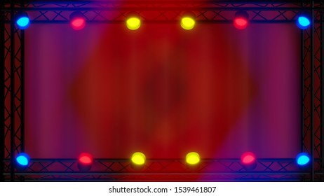 spot lights music background stage show concert illustration 3D