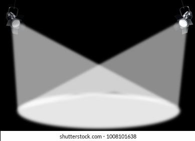 Spotlights illustration, stage image