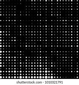 Spotted black and white grunge line background. Abstract halftone illustration background. Grunge grid polka dot background pattern