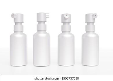 spray bottle on white background. 3D Illustration