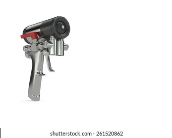 Spray foam PU insulation gun. High quality photo realistic 3D render