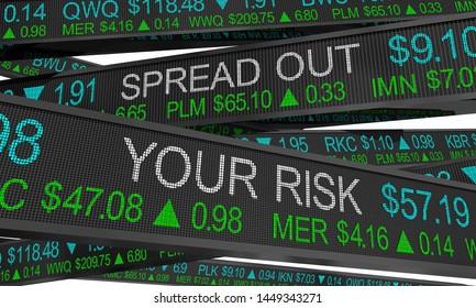 Spread Out Your Risk Diversify Portfolio Stock Market Investment 3d Illustration