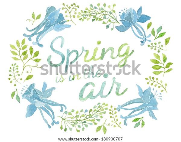 Spring Air Invitation Postcard Template Oval Stockillustration 180900707
