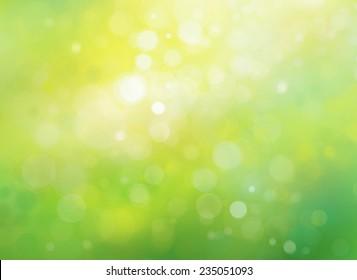 Spring bokeh green background.