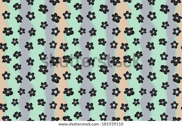 Spring floral background with gray flowers. Motley illustration. Small colorful flowers. Raster cute pattern in small flower. The elegant the template for fashion prints.