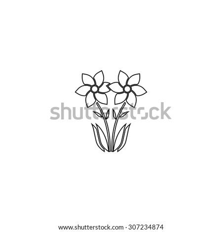 Royalty free stock illustration of spring flowers growing outline spring flowers growing outline black simple symbol mightylinksfo