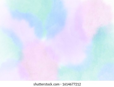 Spring image illustration, hand-painted watercolor, cherry blossom