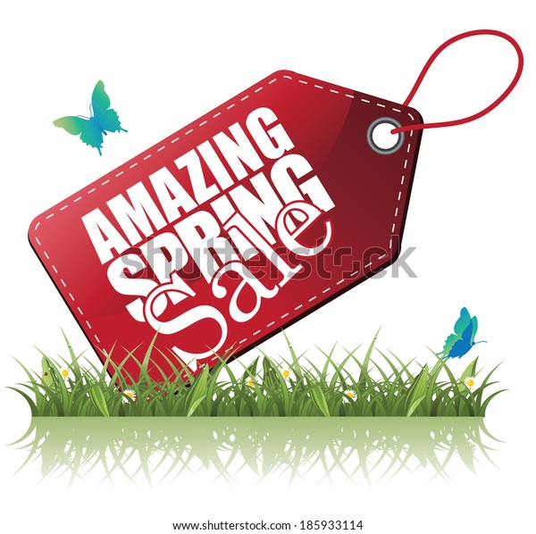 Spring Sale tag advertising icon