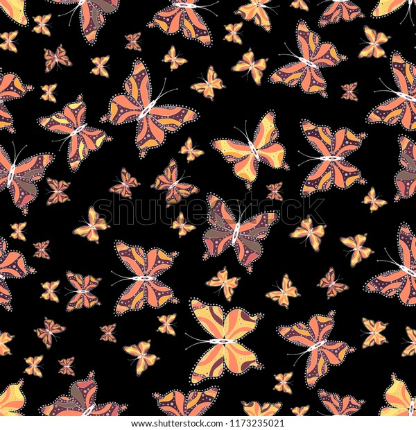 Spring Silhouettes And Shadows >> Spring Summer Tropical Butterfly Seamless Pattern Stock Illustration
