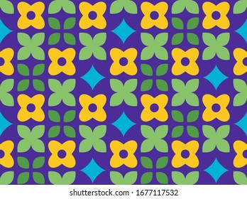 Spring theme in vibrant and colorful colors. leaf and  pattern pattern. Seamless pattern. Background image.