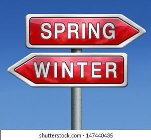 spring winter next season new life change of seasons