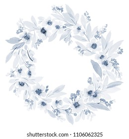 Spring wreath in a gently blue palette.