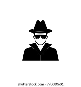 spy avatar icon. Characters of professions Icon. Premium quality graphic design. Signs, symbols collection, simple icon for websites, web design, mobile app on white background