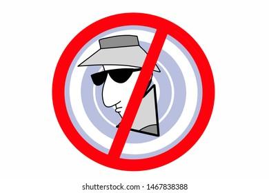spy hacker  thief  icon illustration cartoon