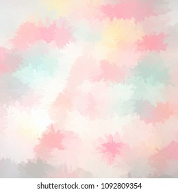 Square abstract impressionist style texture in pastel colours
