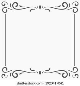 Square border, retro geometric ornamental frame