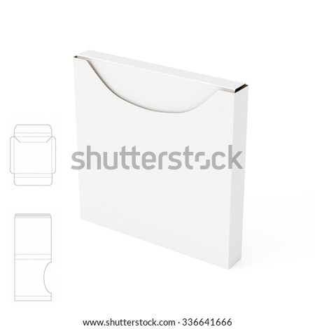 Square Empty Box With Die Cut Template