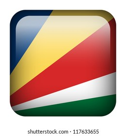Square flag button series - Seychelles