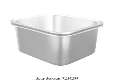 Square Food Plastic Container  Mockup for Design Project - Mock Up 3D illustration Isolate on White Background