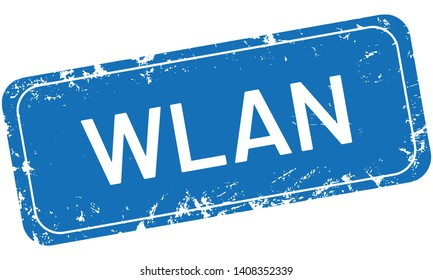 square grungy retro Stamp WLAN