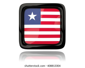 Liberia Liberian Flag Black Country Steel Metal License Plate Frame