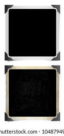 Square Instant Photo Frames with Photographic Corners.