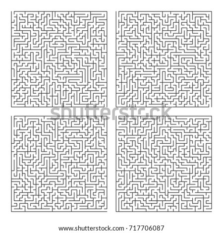 Square labyrinth template. Maze puzzle game vector pattern royalty.