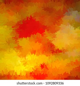 Square Orange and Yellow abstract background texture in an impressionist style.