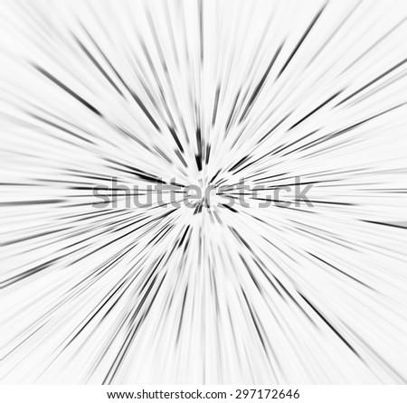 Square Vibrant Black On White Explosion Stock Illustration